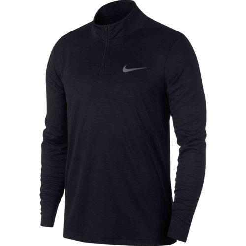 Nike Supersoft 1/4 zip Training Top – Black/Metallic Hematite
