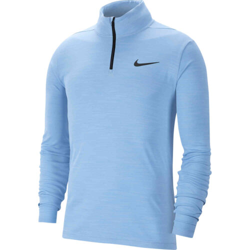 Nike Supersoft 1/4 zip Training Top – Light Blue/Black