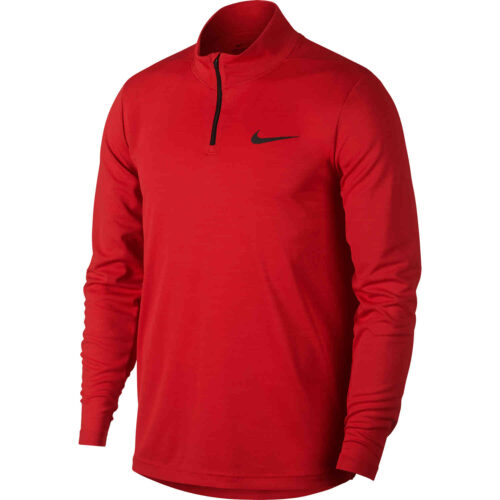 Nike Supersoft 1/4 zip Training Top – University Red/Black