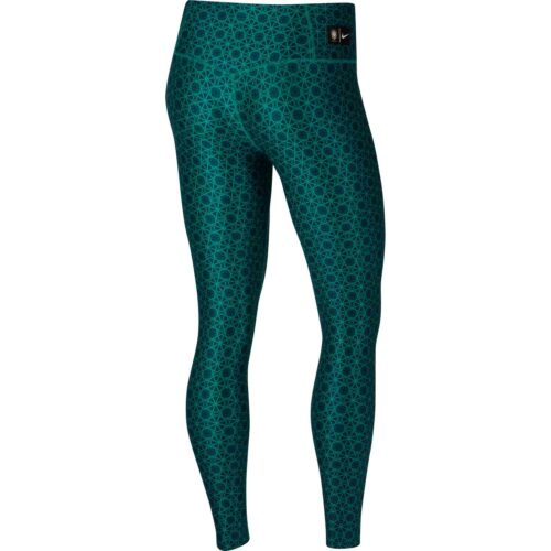 Womens Nike Brazil 7/8 Power Tights – Teal Charge/Midwest Gold