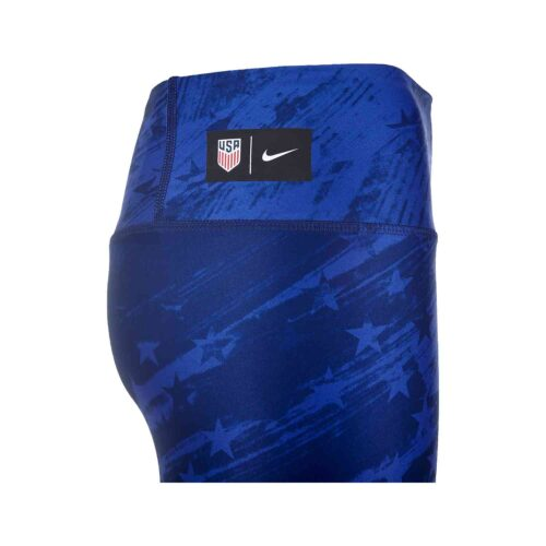 Womens Nike USWNT 7/8 Power Tights – Bright Blue/Loyal Blue/White