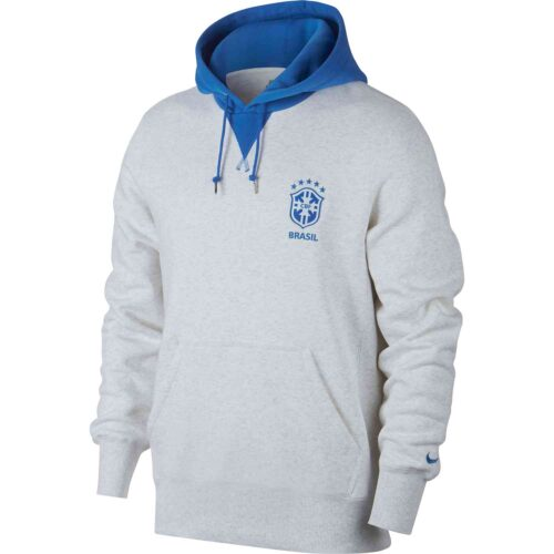 Nike Copa America Brazil Hoodie – Birch Heather/Signal Blue