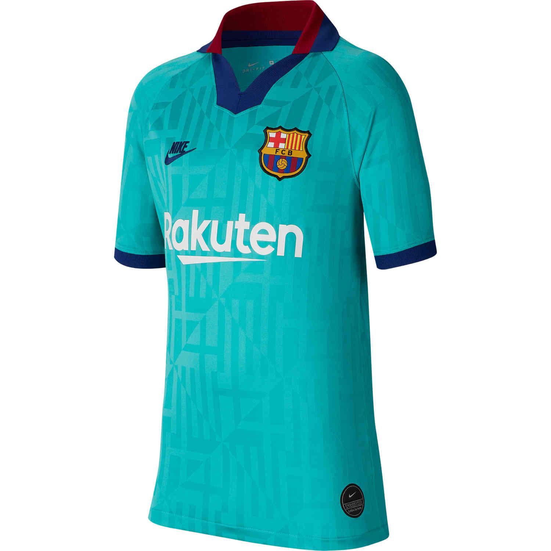 2019/20 Kids Nike Lionel Messi Barcelona 3rd Jersey ...