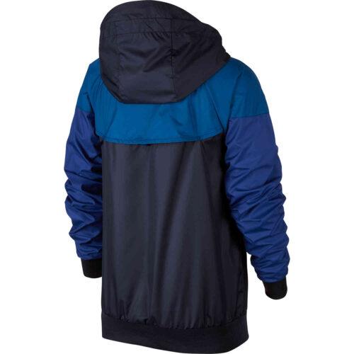Kids Nike Chelsea Windrunner Jacket – Obsidian/Gym Blue/Rush Blue/White