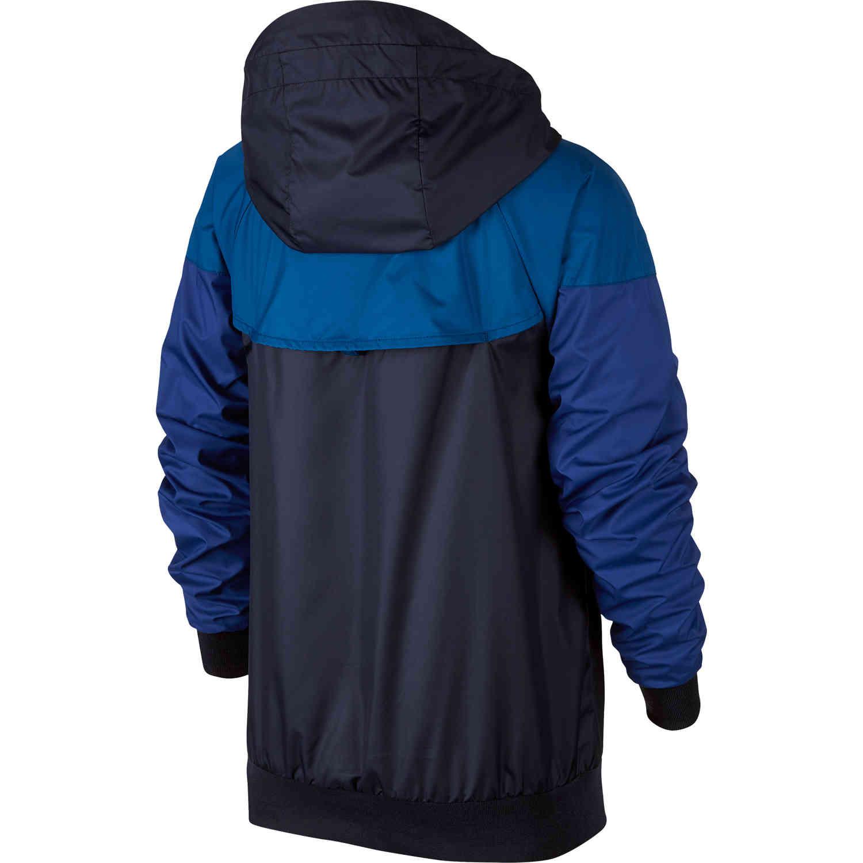 Kids Nike Chelsea Windrunner Jacket ObsidianGym BlueRush BlueWhite SoccerPro