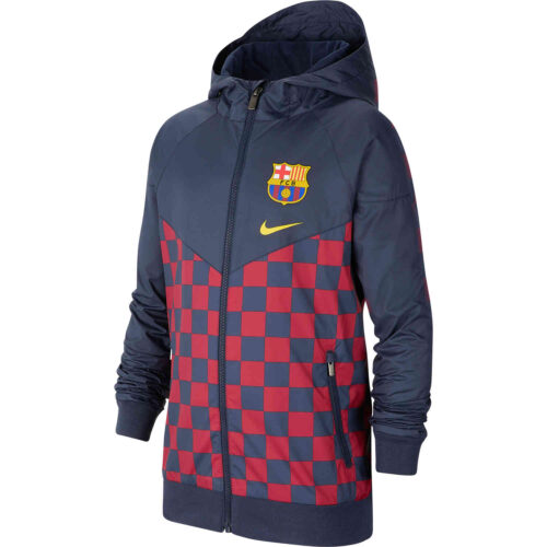 Kids Nike Barcelona Windrunner Jacket – Obsidian/Varsity Maize