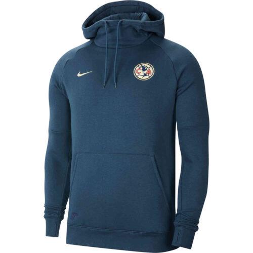 Nike Club America Pullover Fleece Hoodie – Armory Navy/Lemon Chiffon