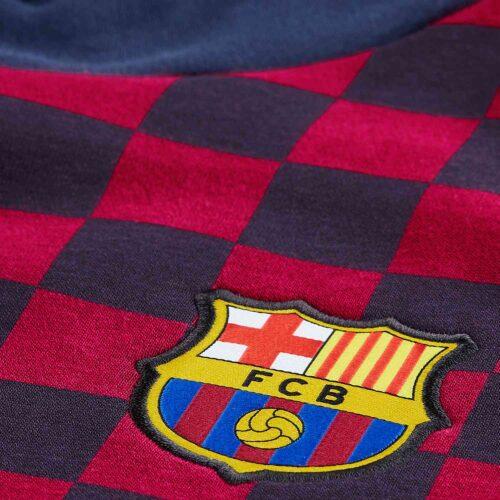 Nike Barcelona Fleece Hoodie – Obsidian/Noble Red