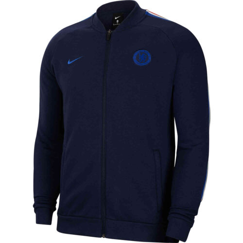 Nike Chelsea Fleece Track Jacket – Obsidian/Rush Blue