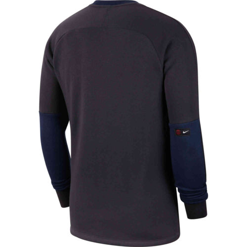 Nike PSG L/S Fleece Crew – Oil Grey/Obsidian/Oil Grey