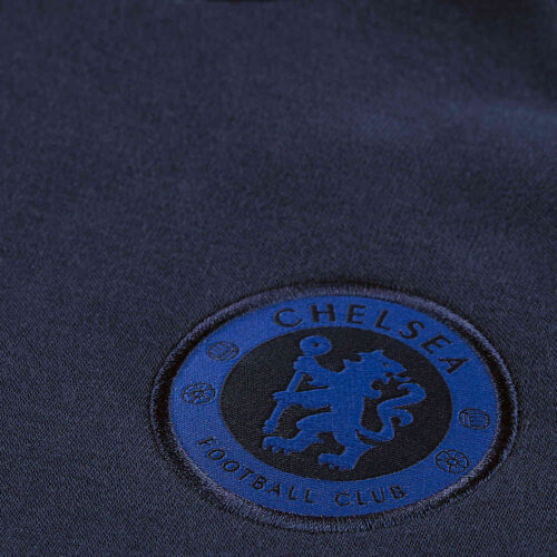Womens Nike Chelsea Fleece Hoodie – Obsidian/Rush Blue