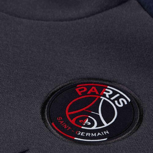 Womens Nike PSG Fleece Hoodie – Oil Grey/Obsidian/Oil Grey