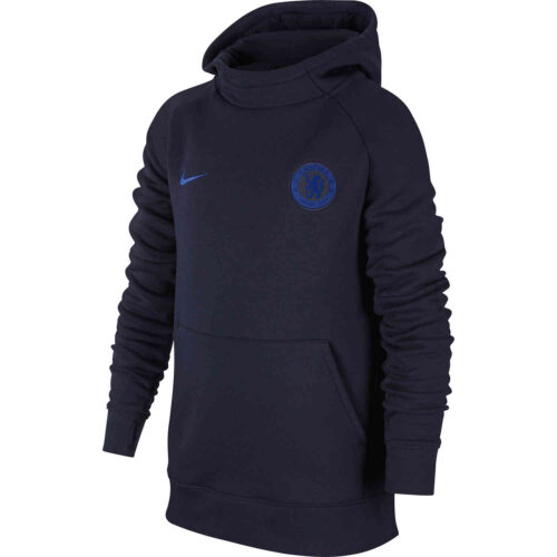 Kids Nike Chelsea Fleece Hoodie – Obsidian/Rush Blue