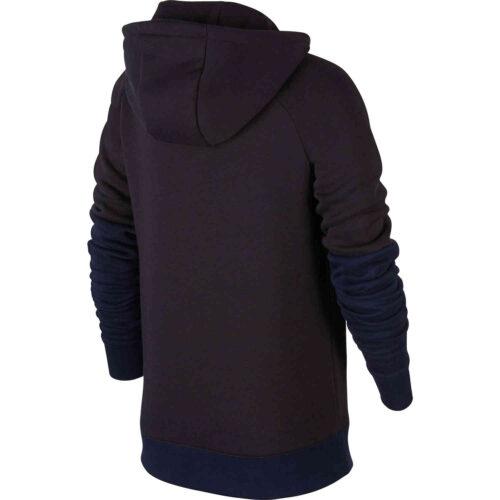 Kids Nike PSG Fleece Hoodie – Oil Grey/Obsidian/Oil Grey