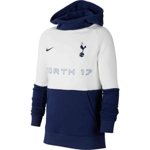 Kids Nike Tottenham Fleece Hoodie – Binary Blue/White/Binary Blue