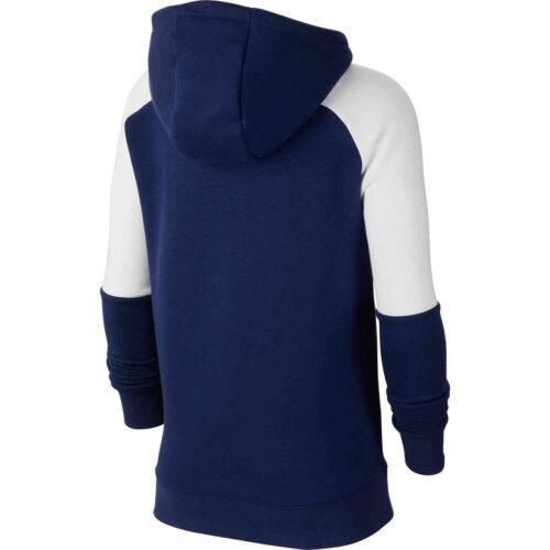 Kids Nike Tottenham Fleece Hoodie – Binary Blue/White/Binary Blue