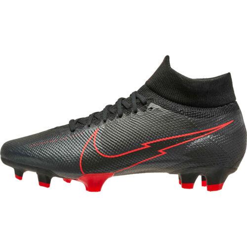 Nike Mercurial Superfly 7 Pro FG – Black & Dark Smoke Grey