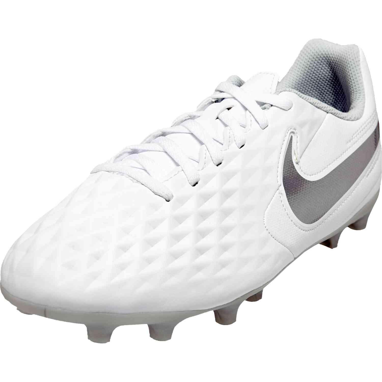 cómo llegar mejor baratas productos de calidad Kids Nike Tiempo Legend 8 Club FG - Nuovo White - SoccerPro