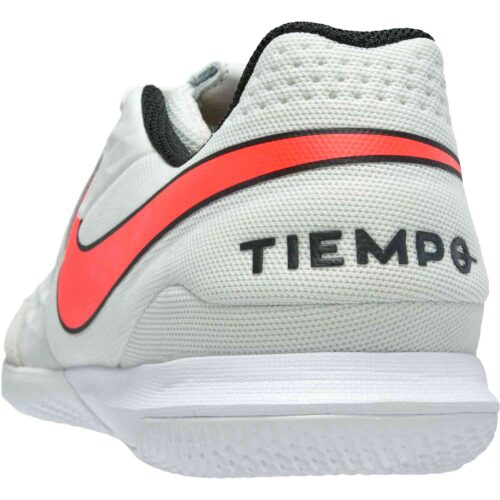 Nike Tiempo Legend 8 Academy IC – Platinum Tint & Bright Crimson with White