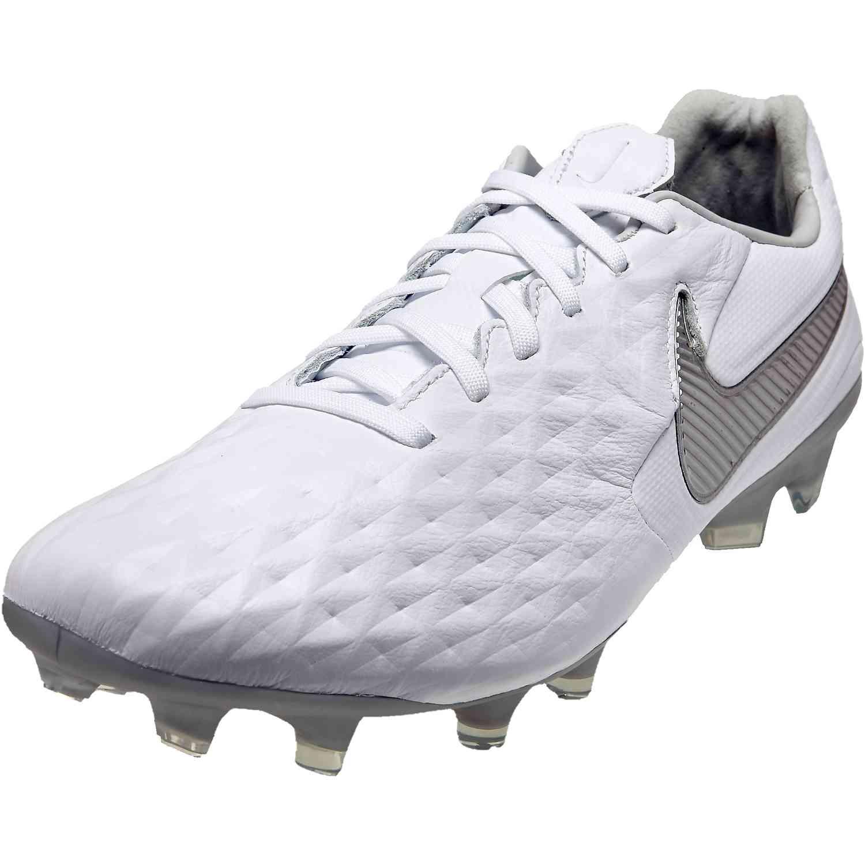 Nike Tiempo Legend 8 Pro FG - Nuovo White - SoccerPro