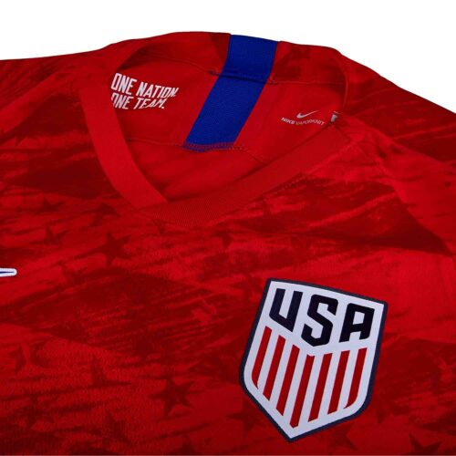 Nike USMNT Away Match Jersey – Speed Red/Bright Blue
