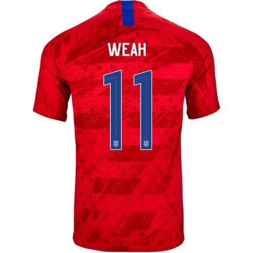 2019 Nike Timothy Weah USMNT Away Match Jersey