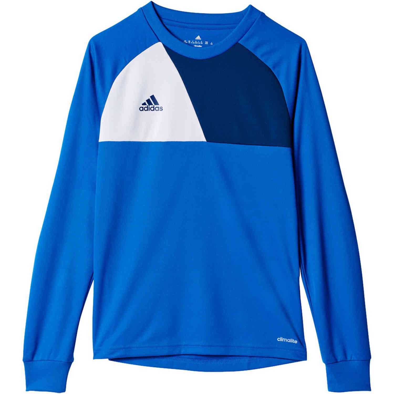 Kids adidas Assita 17 L/S Goalkeeper Jersey - Blue - SoccerPro