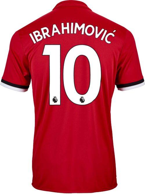 2017/18 adidas Kids Zlatan Ibrahimovic Manchester United Home Jersey