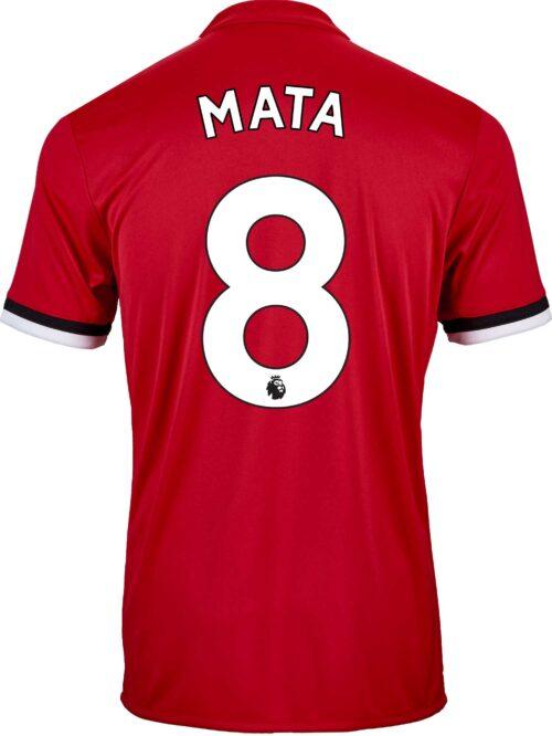 2017/18 adidas Kids Juan Mata Manchester United Home Jersey