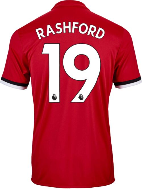 2017/18 adidas Kids Marcus Rashford Manchester United Home Jersey