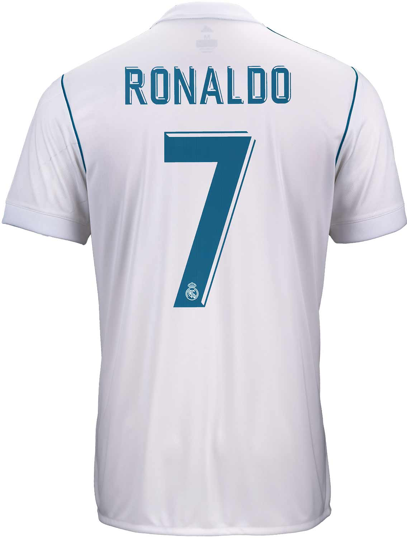 d0ba1efa313 2017 18 adidas Kids Cristiano Ronaldo Real Madrid Home Jersey