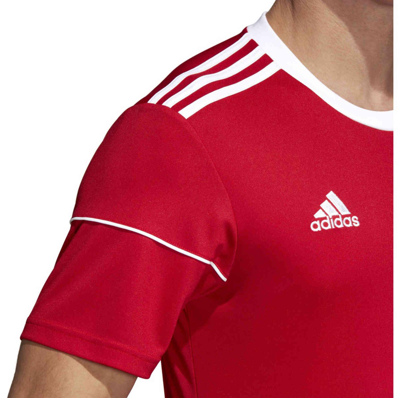 adidas Squadra 17 Jersey - Power Red - SoccerPro