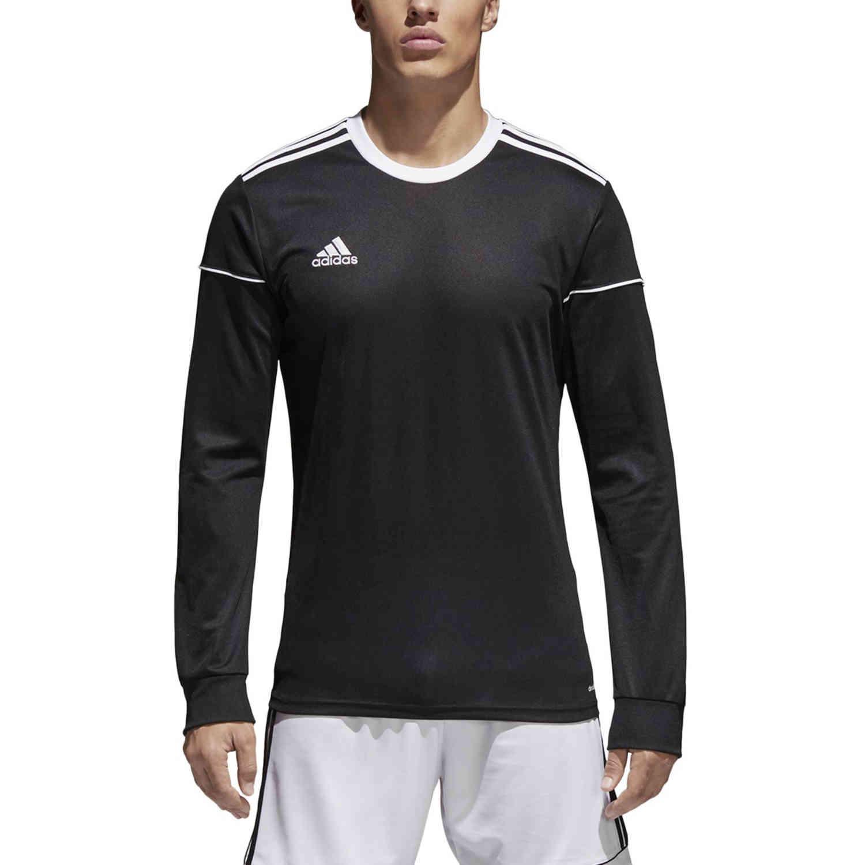 adidas Squadra 17 L/S Jersey - Black - SoccerPro
