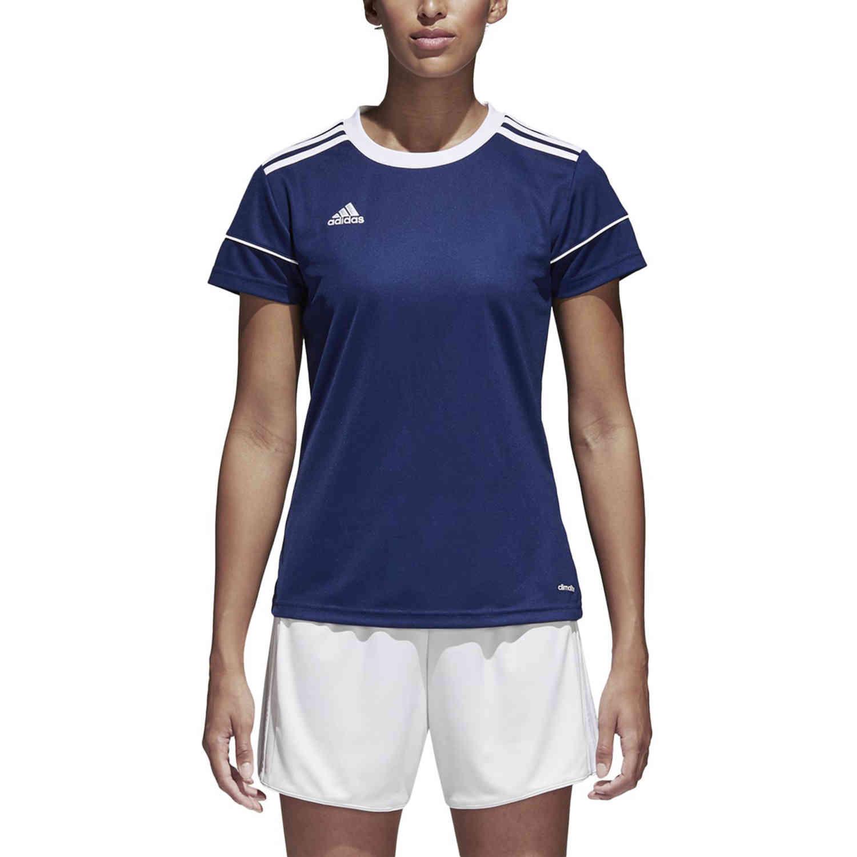Womens adidas Squadra 17 Jersey - Dark Blue - SoccerPro