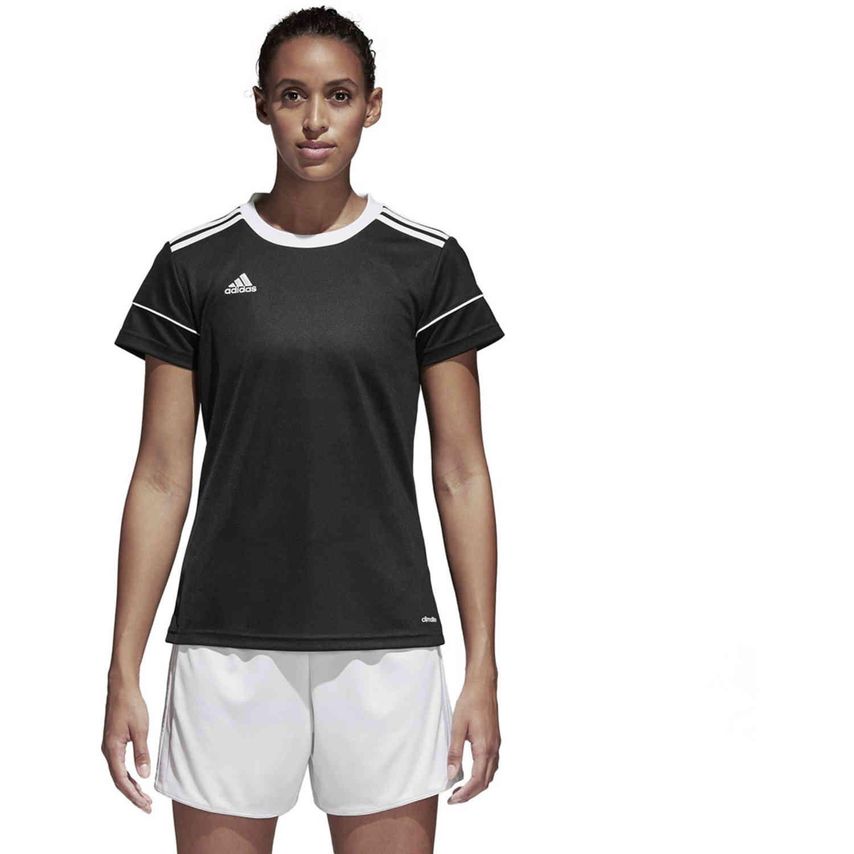 Womens adidas Squadra 17 Jersey - Black - SoccerPro