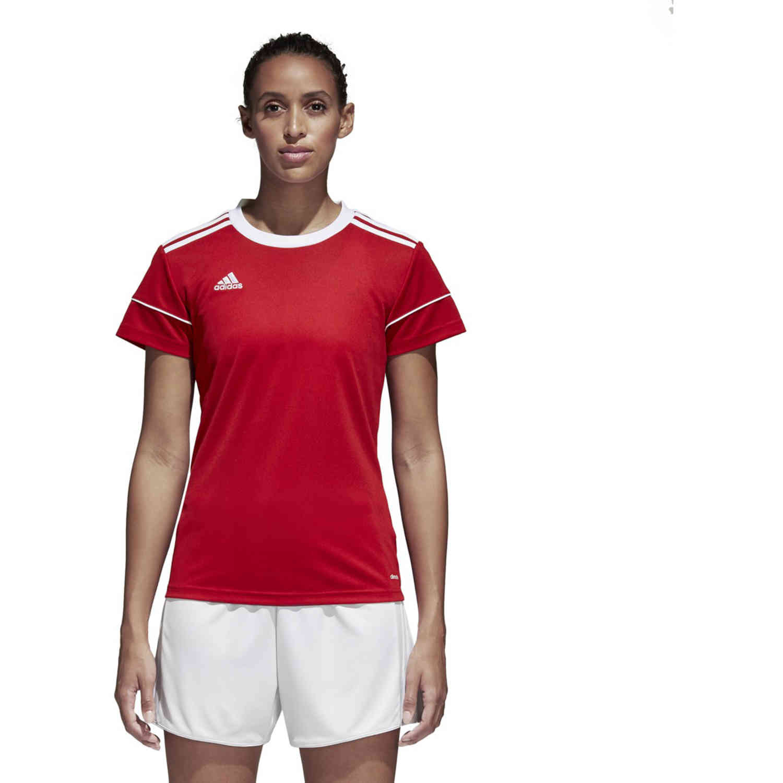 Womens adidas Squadra 17 Jersey - Power Red - SoccerPro