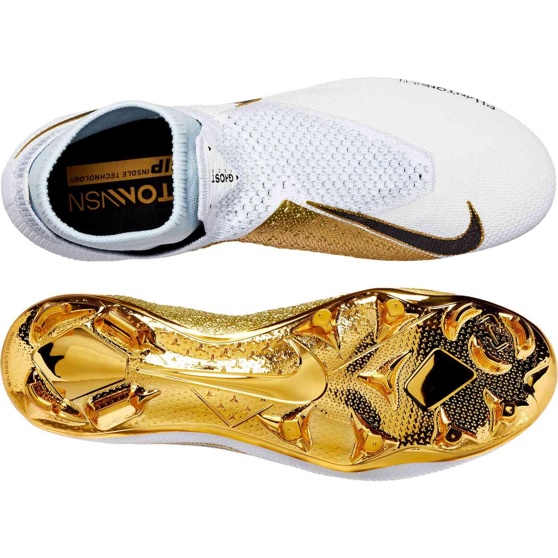 a4299768090a Nike Phantom Vision Elite FG - LTD - White Metallic Gold - SoccerPro