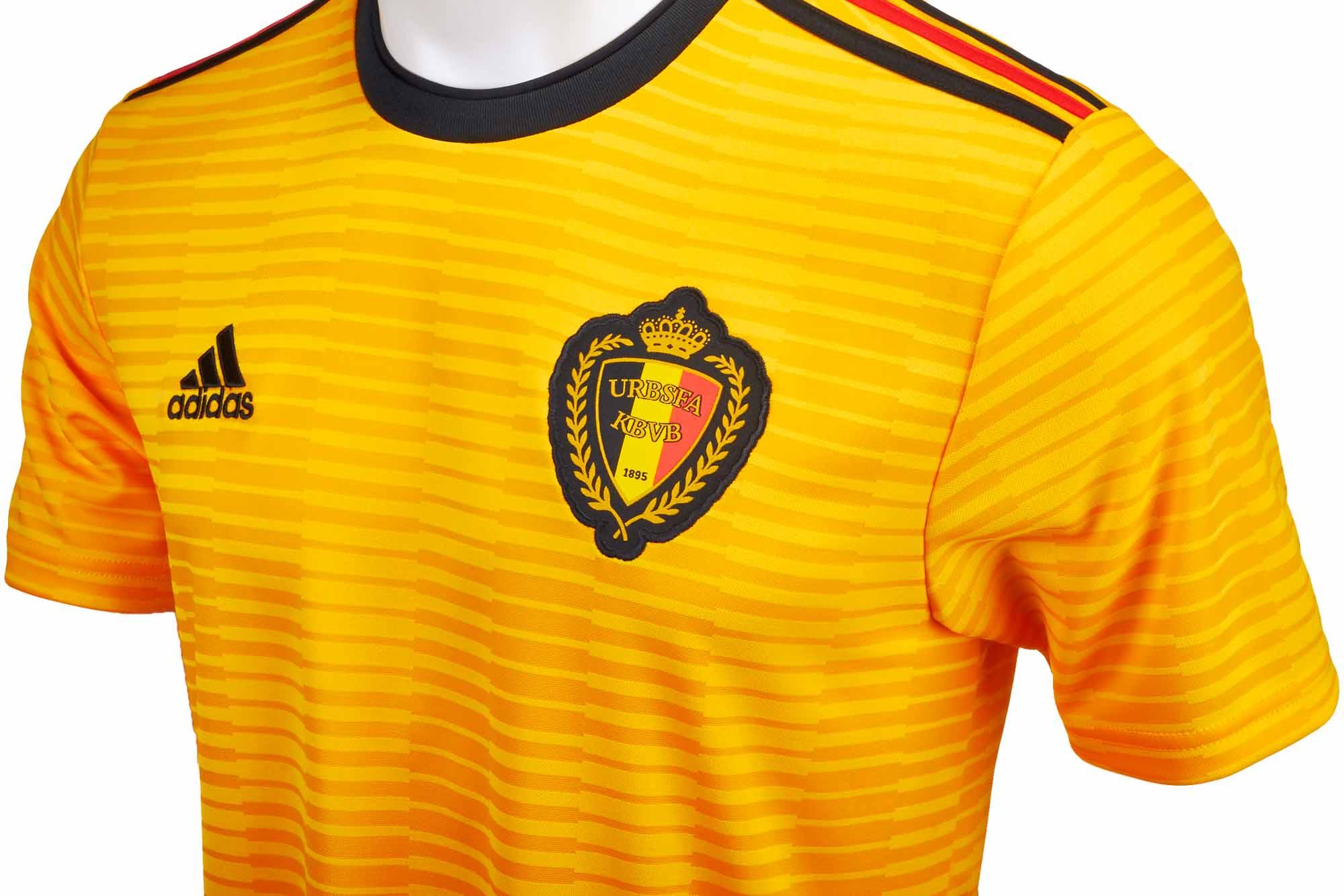 5966afe49 adidas Belgium Away Jersey 2018-19 - SoccerPro.com