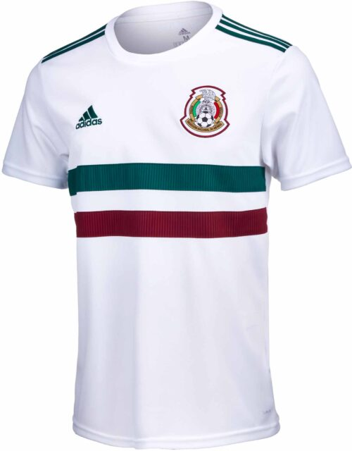 adidas Mexico Away Jersey – Youth 2018-19 NS
