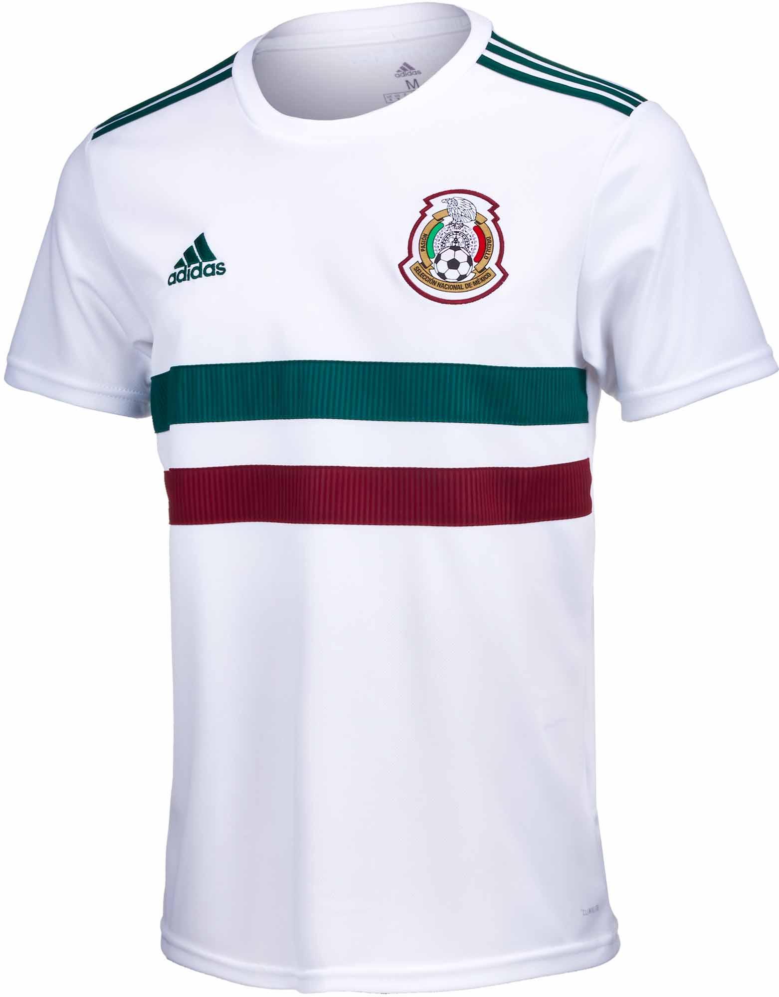 548ca437b54df adidas Mexico Away Jersey 2018-19 - SoccerPro.com