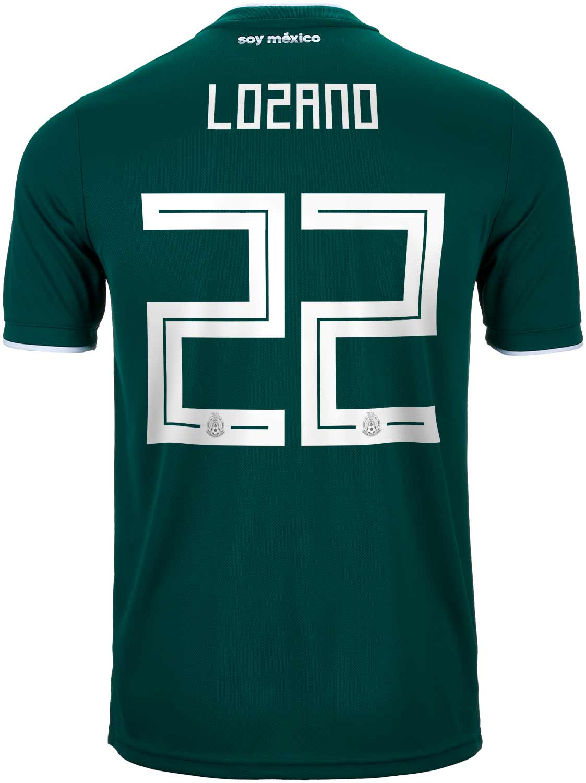 f19540eecc2 2018 19 adidas Hirving Lozano Mexico Home Jersey - SoccerPro