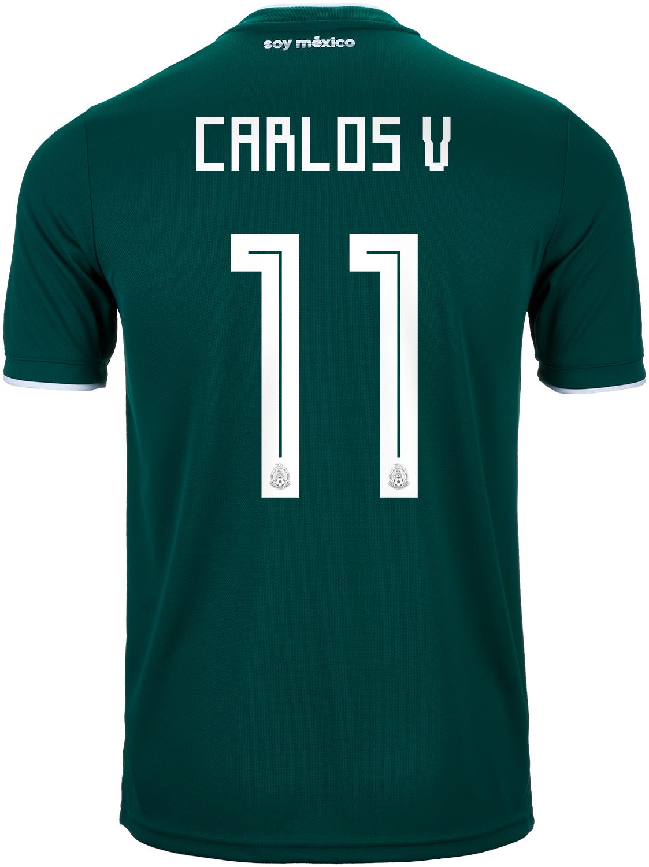 6b777f86a5c 2018 19 adidas Carlos Vela Mexico Home Jersey - SoccerPro