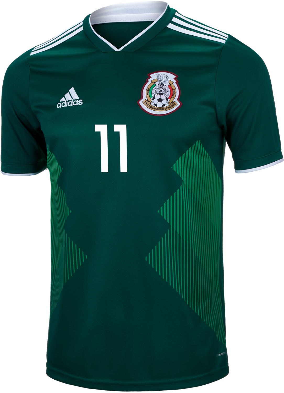 826b172d6 2018 19 adidas Carlos Vela Mexico Home Jersey - SoccerPro