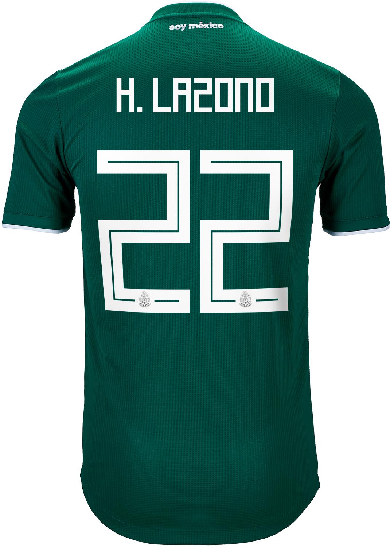 1aa78499c 2018/19 adidas Hirving Lozano Mexico Authentic Home Jersey - SoccerPro