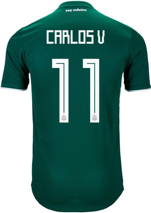 2018/19 adidas Carlos Vela Mexico Authentic Home Jersey
