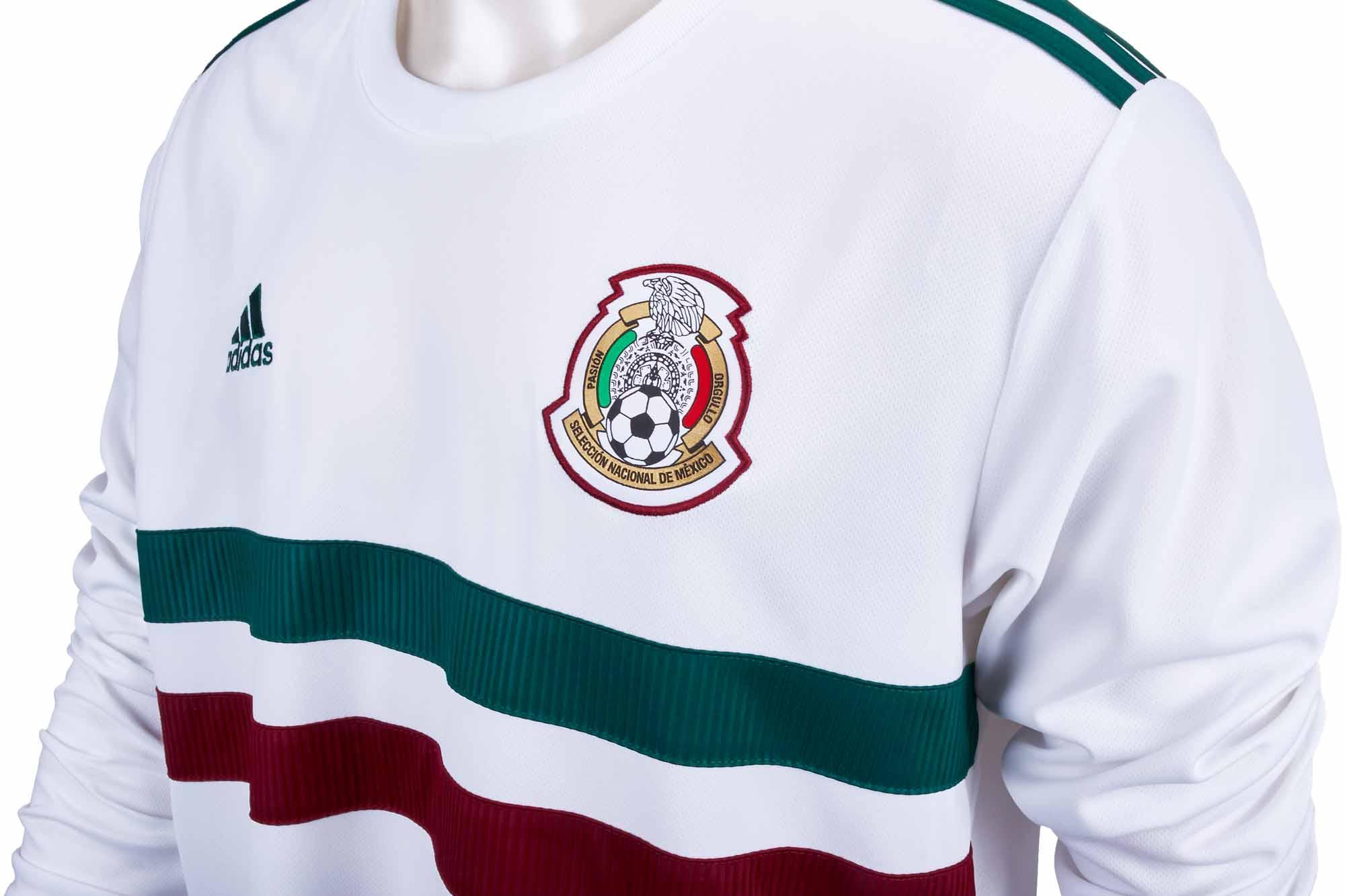 dad941f79f7 2018/19 adidas Mexico L/S Away Jersey - SoccerPro