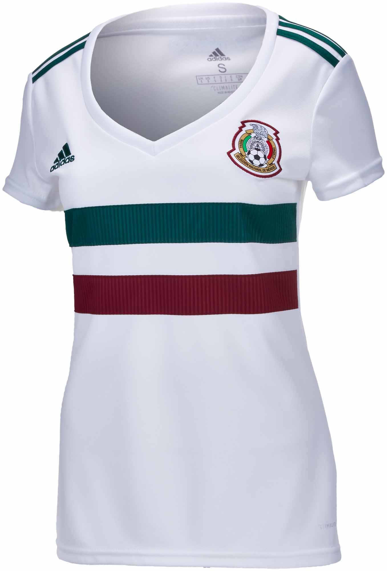 1f1c3810ba6 adidas Mexico Away Jersey - Womens 2018-19 - SoccerPro.com