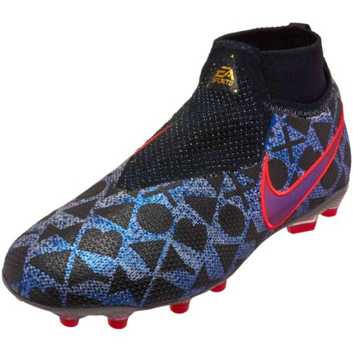 Nike Phantom Vision Elite FG – EA Sports – Youth – White/Black/Bright Crimson
