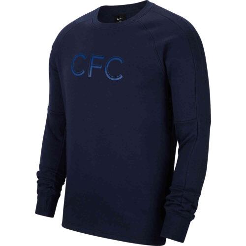 Nike Chelsea L/S Fleece Crew – Obsidian/Rush Blue