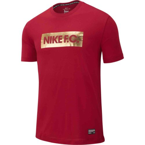 Nike FC Gold Block Tee – Noble Red